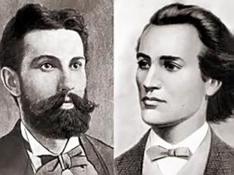 Mihai Eminescu şi Nicolae Densuşeanu